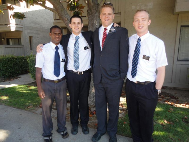 Elder Bruce is the one on the left