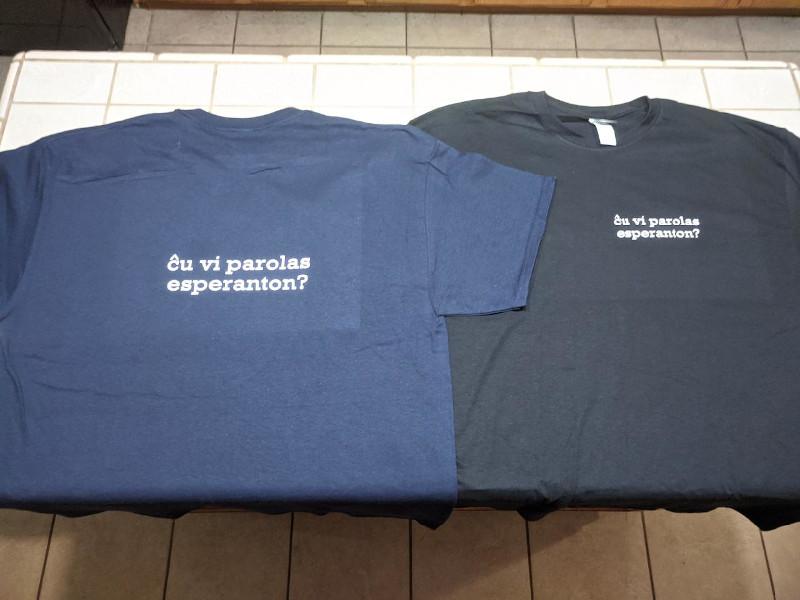 My two new Esperanto shirts